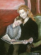 Held Paintings - Mother Reading to Son by Svetlana  Jenkins