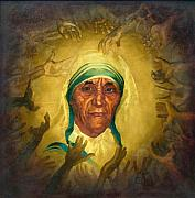 Calcutta Paintings - Mother Teresa by Arabinda Aich