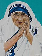 John Keaton Painting Framed Prints - Mother Teresa Framed Print by John Keaton