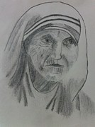 Mother Teresa Framed Prints - Mother Teresa Framed Print by Monika