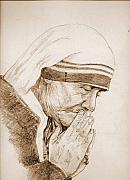 Calcutta Paintings - Mother Teresa2 by Aloke Lal