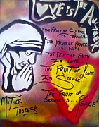 First Amendment Paintings - Mother Theresa FRUITS by Tony B Conscious