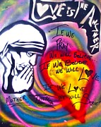 Affirmation Posters - Mother Theresa PRAYING Poster by Tony B Conscious