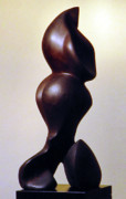 Loving Sculpture Framed Prints - Mother Touch Framed Print by Lonnie Tapia