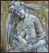 Icons Painting Originals - Motherhood by Mary jane Miller