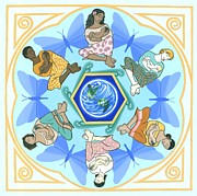 Babies Paintings - Mothering Mandala by Karen MacKenzie