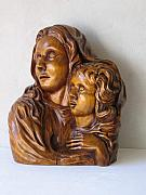 Carving Sculptures - Motherlove by Norbert Bauwens