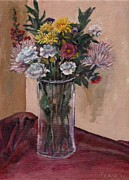 Table Cloth Metal Prints - Mothers Day Bouquet Metal Print by Elizabeth Lane