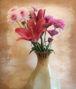 Pinks Posters - Mothers Day Bouquet Poster by Marsha Heiken
