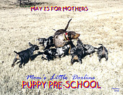 Puppies Mixed Media - Mothers Day by Poni Trax