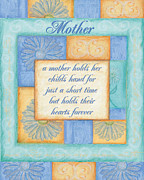 Peach Paintings - Mothers Day Spa card by Debbie DeWitt