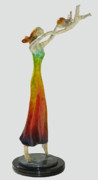 Color Sculpture Originals - Mothers Little Angel by Esther Wertheimer