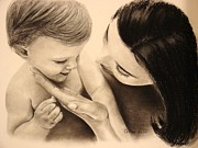 Kid Pastels - Mothers Touch by Colleen Quinn