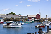 Rockport  Ma Framed Prints - Motif 1 iHarbor Framed Print by Warren Carrington