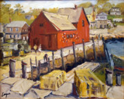 Fishing Shack Paintings - Motif 1 in spring by Chris Coyne