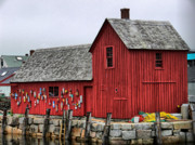 Red Barn. New England Prints - Motif  1 Print by Nancie Martin DeMellia