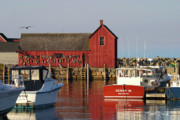 Lobster Shack Posters - Motif No. 1 Reflections Rockport Massachusetts Poster by Michelle Wiarda