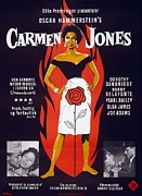 Dandridge Framed Prints - Motion Picture Poster For Carmen Jones Framed Print by Everett