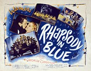 Whiteman Framed Prints - Motion Picture Poster For Rhapsody In Framed Print by Everett