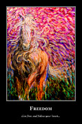 Freedom Paintings - Motivational Freedom Horse by Nik Helbig