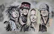 Band Pastels Originals - Motley Crue by Melanie D