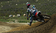 Motorcycle Racing Framed Prints - Motocross Going For It Framed Print by Bob Christopher