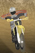 Spectator Digital Art Prints - Motocross Print by Janet Carlson