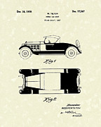 Antique Drawings - Motor Car Tilton 1928 Patent Art by Prior Art Design