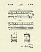Antique Drawings - Motor Coach 1949 Loewy Patent Art   by Prior Art Design