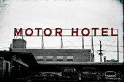 North Louisiana Posters - Motor Hotel Poster by Scott Pellegrin