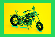 Hanging Pyrography Prints - MotorBike 1b Print by Mauro Celotti
