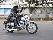 Urban City Areas Photos - Motorbiker Peace by Kantilal Patel