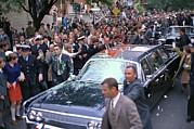 Motorcade Of President Lyndon Johnson Print by Everett