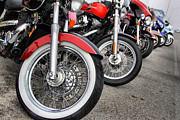 Honda Motorcycles Prints - Motorcycle Heaven Print by Linda Unger