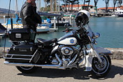 Police Metal Prints - Motorcycle Police At The San Francisco Marina - 5D18266 Metal Print by Wingsdomain Art and Photography