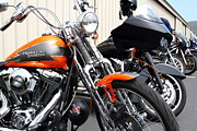 Harley Davidson Photos - Motorcycle Row 7d15090 by Wingsdomain Art and Photography