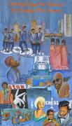 African-american Painting Metal Prints - Motown Commemorative 50th Anniversary Metal Print by Kenji Tanner