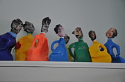 People Sculpture Prints - Mottles Print by Michael Jude Russo