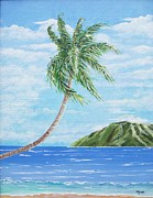 Key West Paintings - Motu Coconut by John Moon