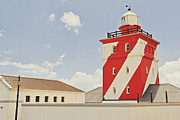 Shallows Posters - Mouille Point Lighthouse Poster by Benjamin Matthijs