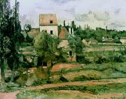 Detail Paintings - Moulin de la Couleuvre at Pontoise by Paul Cezanne