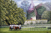 Horse Racing Prints Posters - Moulin de Longchamp Poster by Thomas Allen Pauly