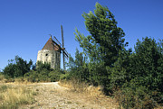 Southern Scenery Framed Prints - Moulin of Daudet. Fontvieille. Provence Framed Print by Bernard Jaubert