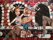Decoupage Art - Moulin Rouge by Blair Barbour