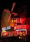Halifax Art Framed Prints - Moulin Rouge Framed Print by John Malone