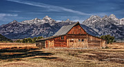 Barn Digital Art Prints - Moulton Barn Print by Wade Aiken