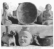 Pottery Pitcher Art - Mound Builders: Pottery by Granger