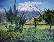 Enver Larney Art - Mount Ararat North Eastern Anatolia Turkey 2006  by Enver Larney