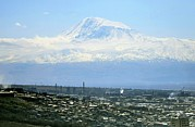 Border Prints - Mount Ararat Print by Ria Novosti