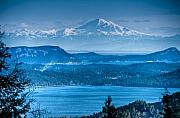 R J Ruppenthal Metal Prints - Mount Baker and the Gulf Islands Metal Print by R J Ruppenthal